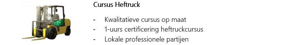 Cursus Heftruck